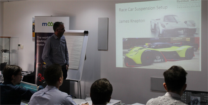 James tutoring at the 2018 MIA School of Race Engineering