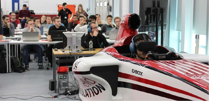 Interactive Simulator session at the 2018 School of Race Engineering